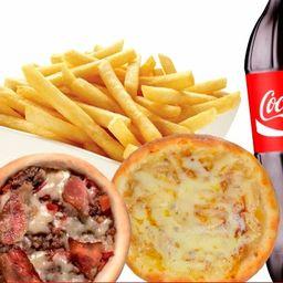 5 Carne/bacon/queijo+2 Banana+1 Batata G+1 Coca de 2lt