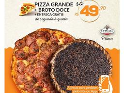 Pizza Grande 8 fatias e Broto Doce