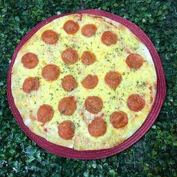 Pizza Grande de Pepperoni com Alho Frito