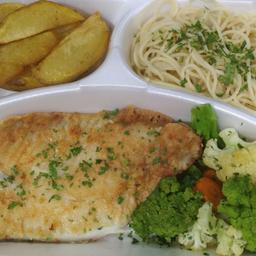 Filé de peixe grelhado (merluza)