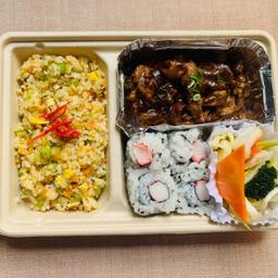 Bento box shogayaki