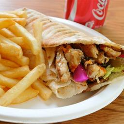 Shawarma De Kafta + Coca Cola+Fritas pequena