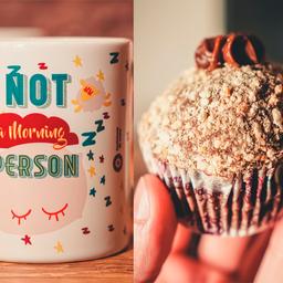 Caneca Morning + Cupcake Palha