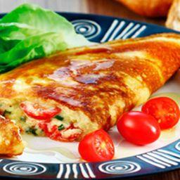 Omelete Caprese e 2 Acompanhamentos