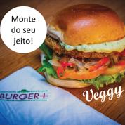 B+ Vegetariano Hambúrguer