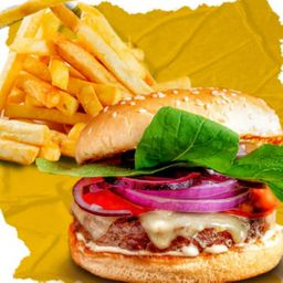 Combo Classic Salad Burger e French Fries