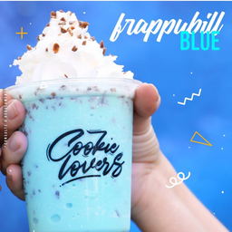 Donuts Chocolate + Frappubill Blue Grande