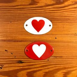 Plaquinhas Metal Coração
