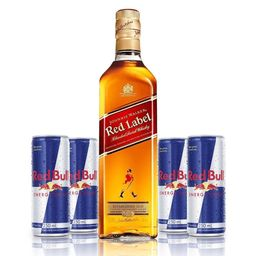 Combo Whisky e 4 Red Bull