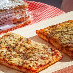 Pizza mussarela_porção 4 fatias