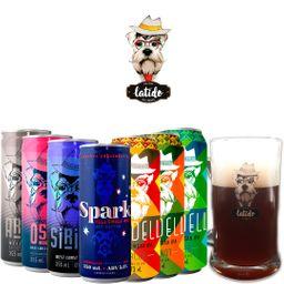Kit Degustação Latido Ale House com 7 Cervejas e 1 Caneca