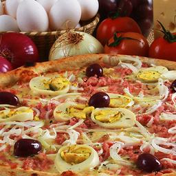 Combo Pizza Portuguesa Grande e Mussarela Grande
