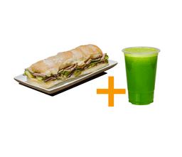 Sanduiche gourmet roastbeef + Suco 500ml
