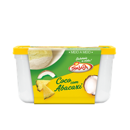 Pote de Sorvete de Coco com Abacaxi 1,5L