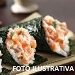 Temaki salmão sem arroz
