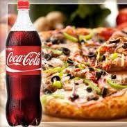 Pizza + coca cola
