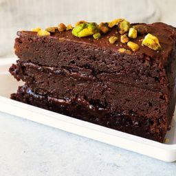 Bolo Brownie - Fatia