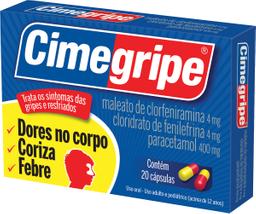 Cimegripe Com 20 Comprimidos