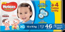 Fralda Huggies Tripla Proteção Mega Pack Xg Com 42 Unidades