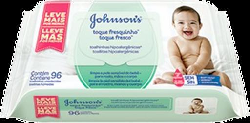 Lenços Umedecidos Johnson's Baby Toque Fresquinho 96 Unidades