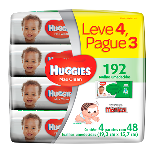 Baby Wipes Huggies Max Clean Leve4Pague3
