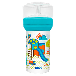 Mamadeira Lillo Super Divertida Azul 260 mL
