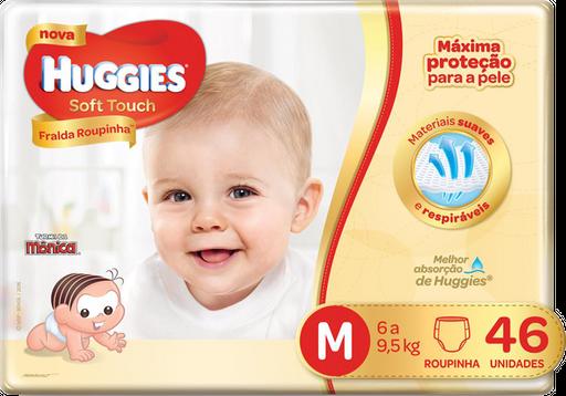 Fralda Huggies Soft Touch Roupinha Mega Tamanho M Com 48 U
