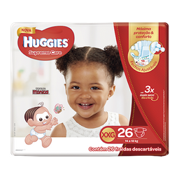 Fralda HUGGIES Supreme Care XXG - 52 fraldas