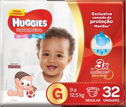 Fralda Huggies Supreme Care Mega Tamanho G Com 32 Unidades