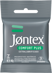Jontex Preservativo Lubrificado Confort Plus 3 Und