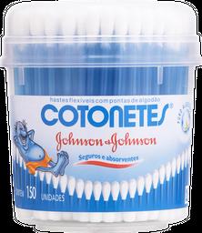 Hastes Flexíveis Cotonete Johnson & Johnson Pote Com 150 U