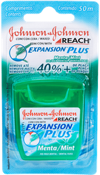 Fio Dental REACH® EXPANSION PLUS™ Menta 50m