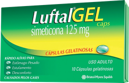Luftal Reckitt Benckiser Gelatinosas 125 mg 10 Cápsulas