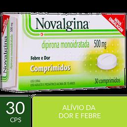 Remédio Novalgina 500 mg Sanofi Aventis 30 Comprimidos