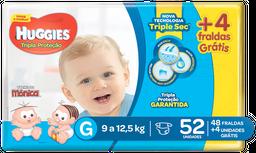 Fralda Huggies Tripla Proteção Mega Pack G Com 48 Fraldas