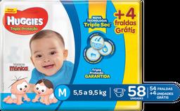 Fralda HUGGIES Tripla Proteção M - 58 fraldas