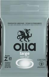 Olla Preservativo Lubrificado Large 3 Und