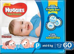 Fralda Huggies Tripla Proteção Mega Pack P Com 60 Und