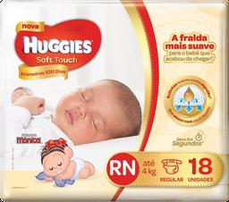 Fralda Turma Da Mônica Soft Touch Recém-Nascido Com 18 Unidades