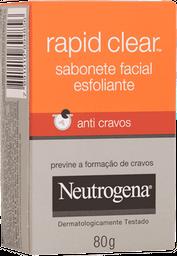 Sabonete Esfoliante Facial Deep Clean Anti Cravos Neutrogena 80g