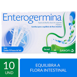 Probiótico Enterogermina Uso de 1 a 3 vezes ao dia 10 frascos