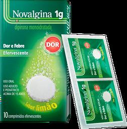 Novalgina 1g Sanofi Aventis 10 Comprimidos Efervescentes