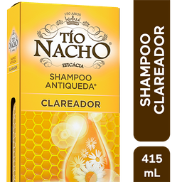 Shampoo Antiqueda Clareador Tio Nacho, 415ml