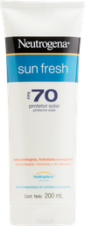 Protetor Solar Neutrogena Sun Fresh FPS 70 200 mL