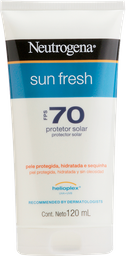 Protetor Solar Neutrogena Sun Fresh FPS 70 120 mL