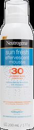Protetor Solar Effervescent Mousse FPS 30 Neutrogena 200 mL