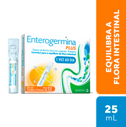 Enterogermina Plus Sanofi Aventis 5 Flaconetes