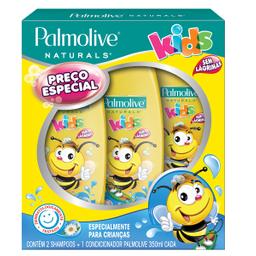 Shampoo Palmolive Naturals Kids 350ml Com 02 Unidades + Condicio