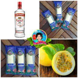 Sacolé de Mousse de Maracujá com Vodka