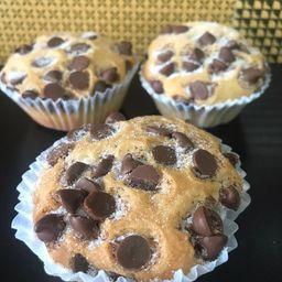 Muffins com gotas de chocolate - 2 un